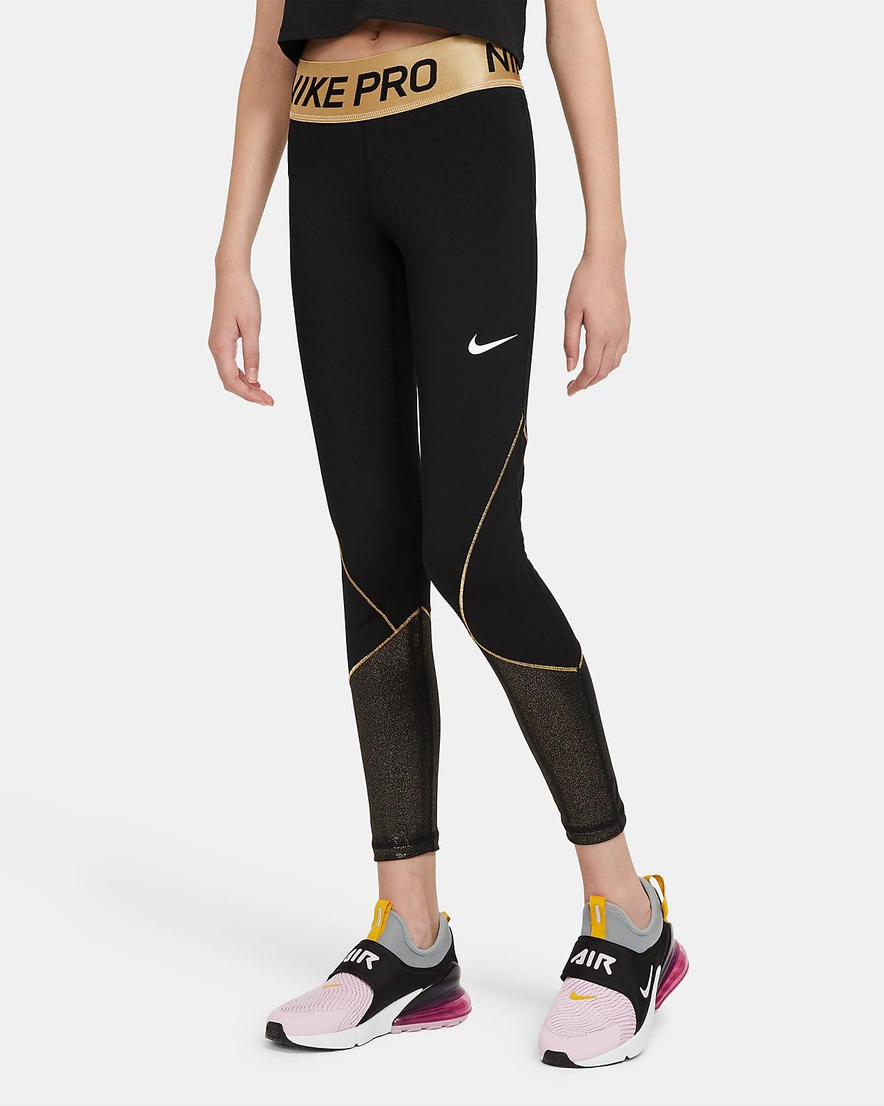 Legginsy treningowe dla dużych dzieci (dziewcząt) Nike Pro Warm