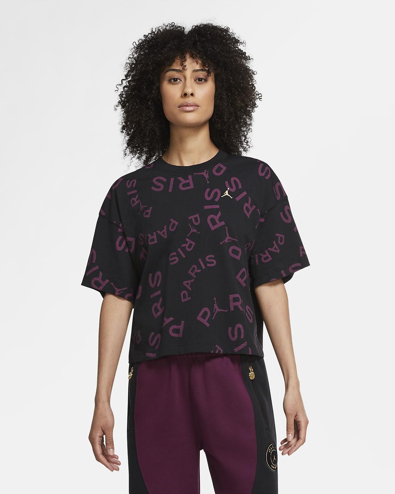 Paris Saint-Germain Kısa Kollu Dörtgen Kadın Tişörtü