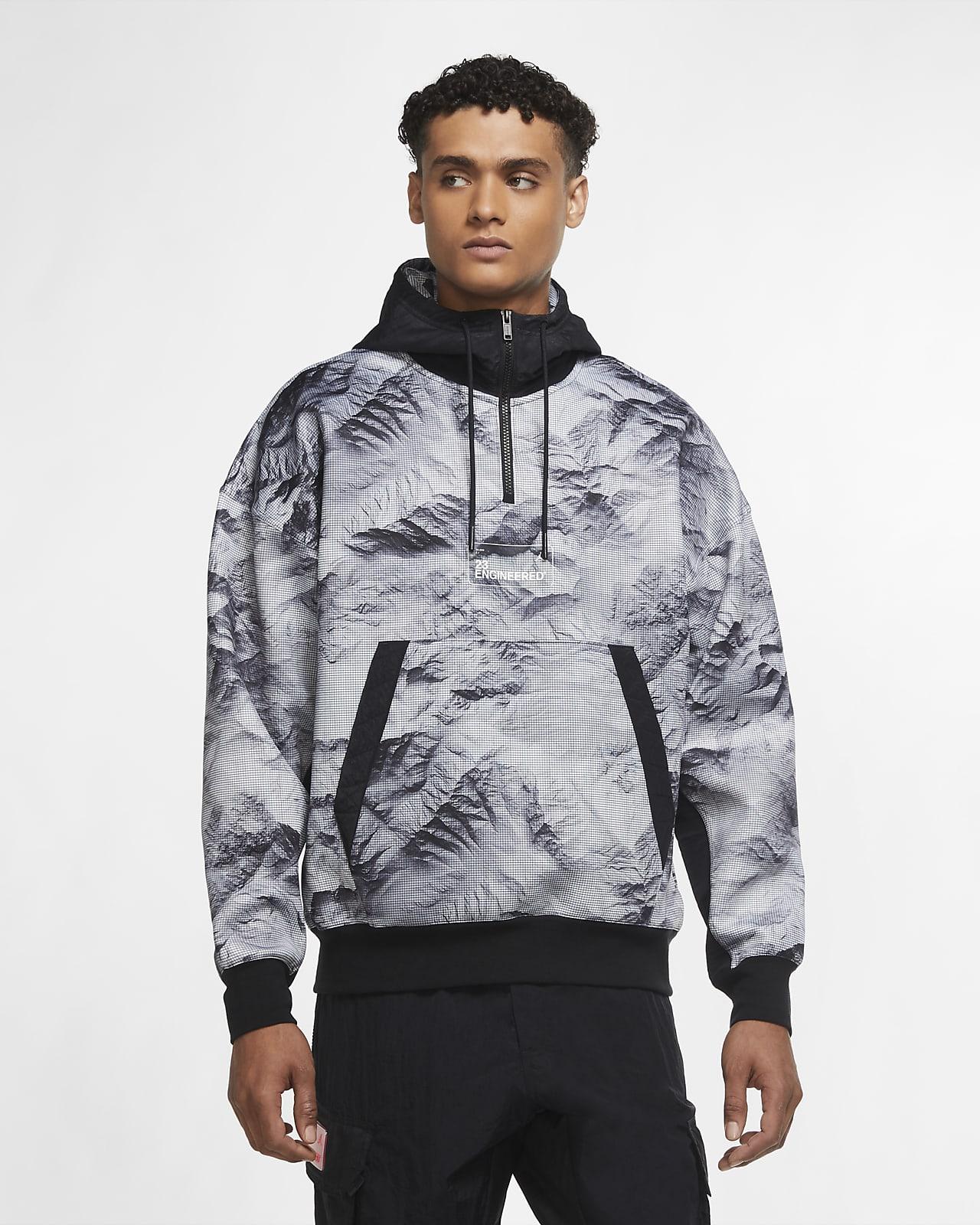 เสื้อมีฮู้ดผู้ชายแบบสวมพิมพ์ลาย Jordan 23 Engineered