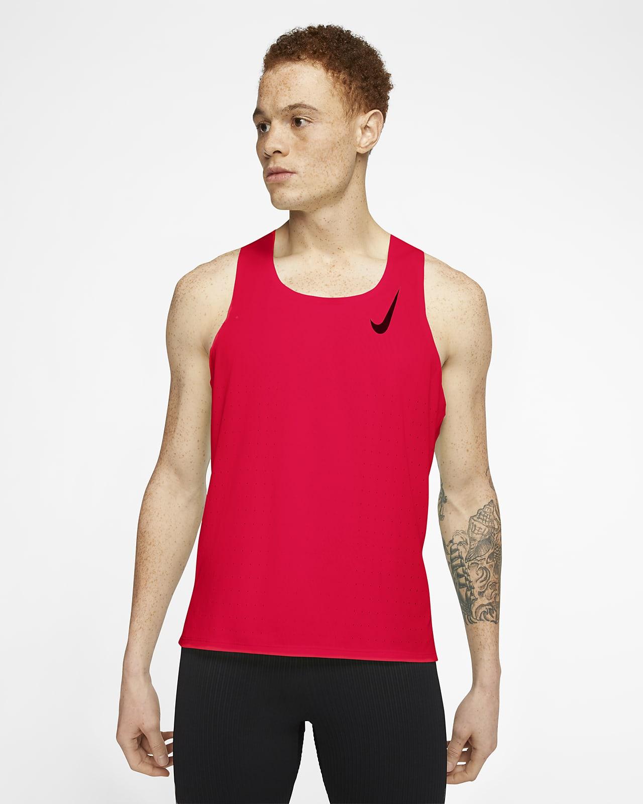 เสื้อกล้ามวิ่งผู้ชาย Nike AeroSwift