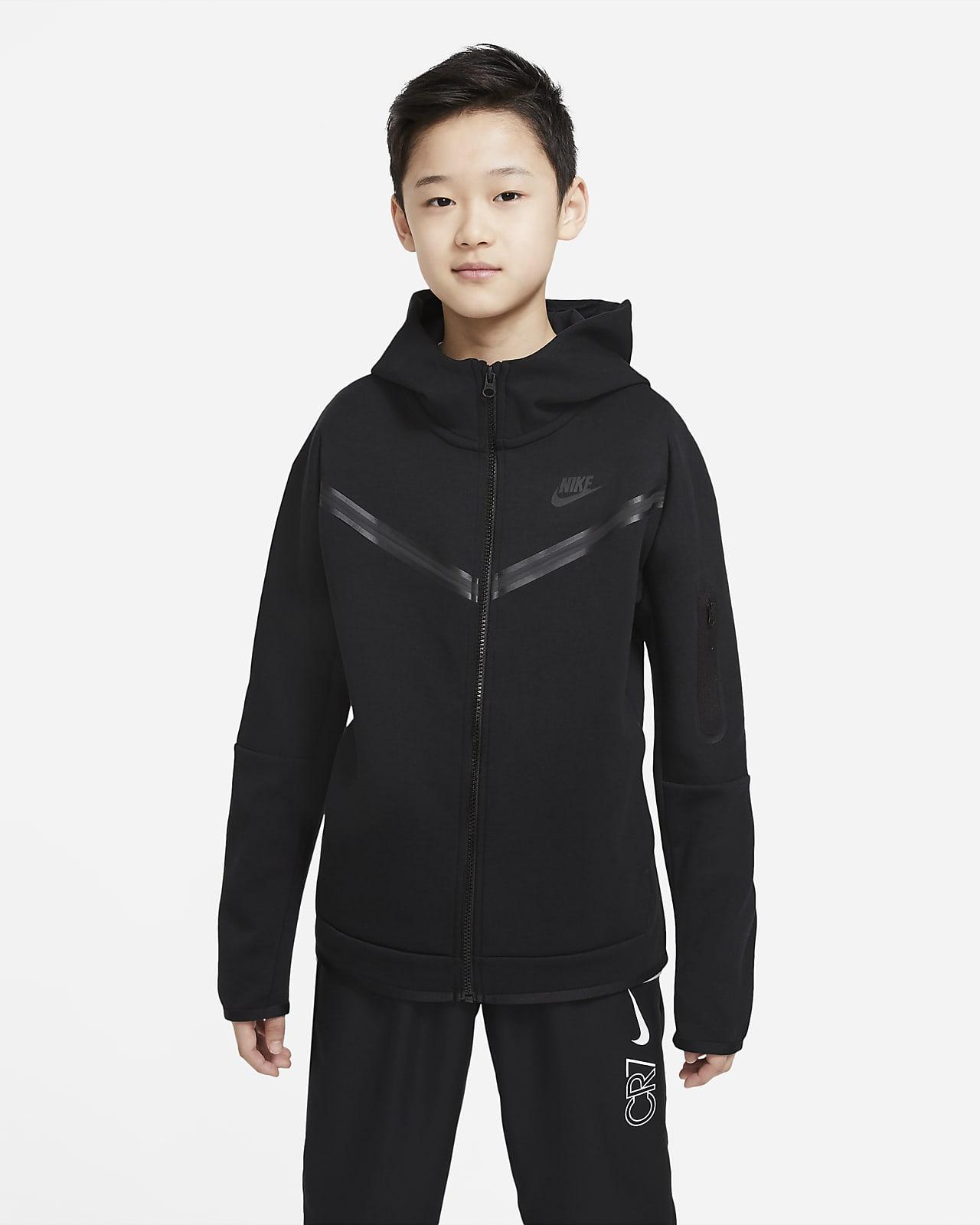 Felpa con cappuccio e zip a tutta lunghezza Nike Sportswear Tech Fleece - Ragazzo