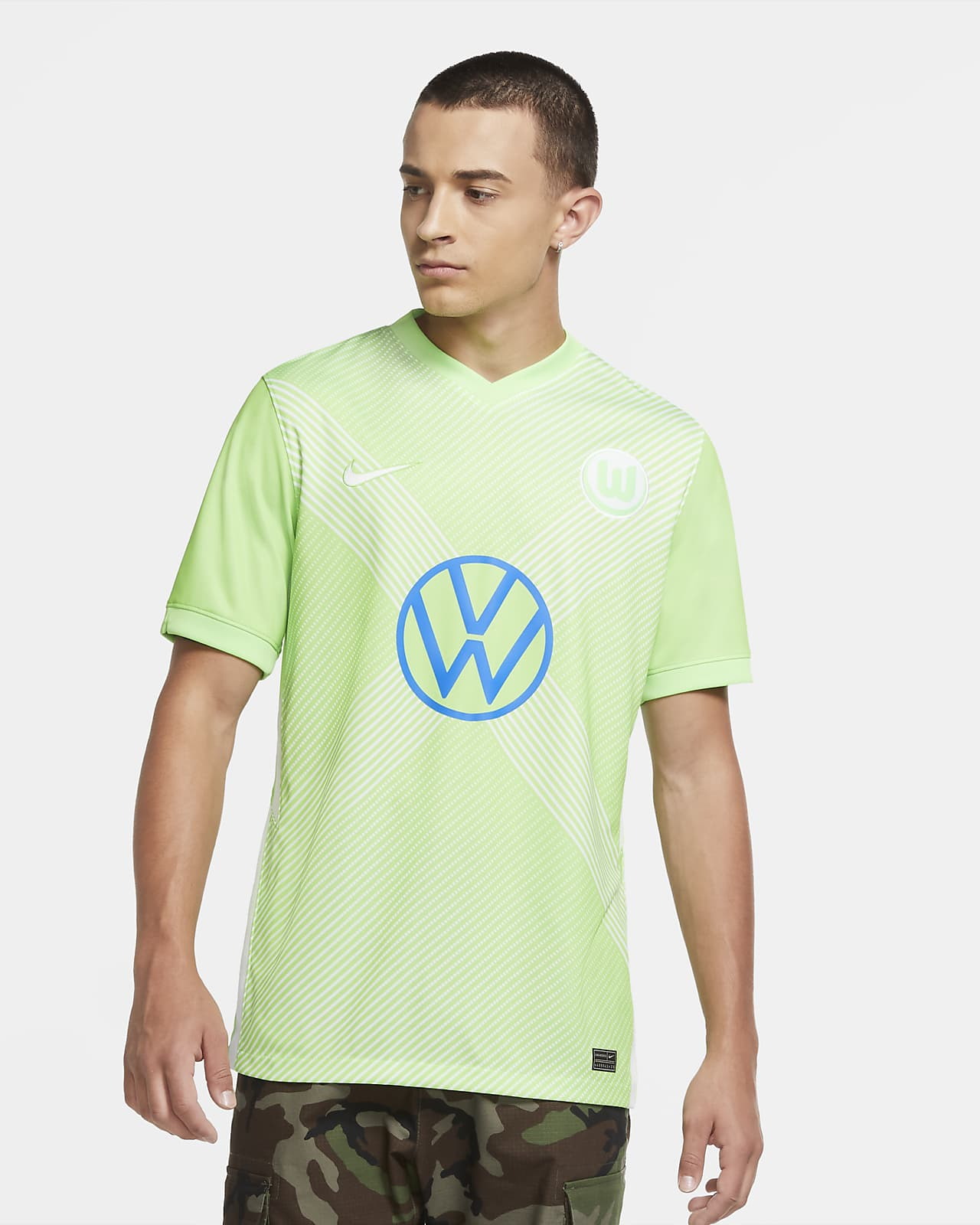 VfL Wolfsburg 2020/21 Stadium Home Men's Football Shirt