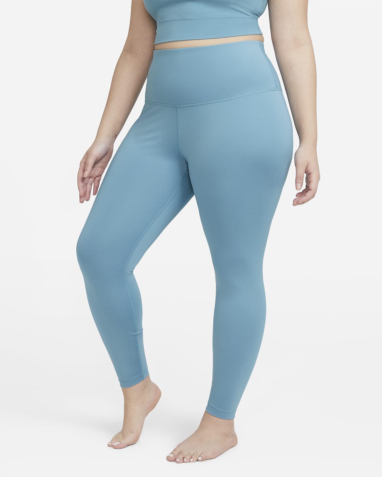 Женские слегка укороченные леггинсы с высокой посадкой Nike Yoga (большие размеры)