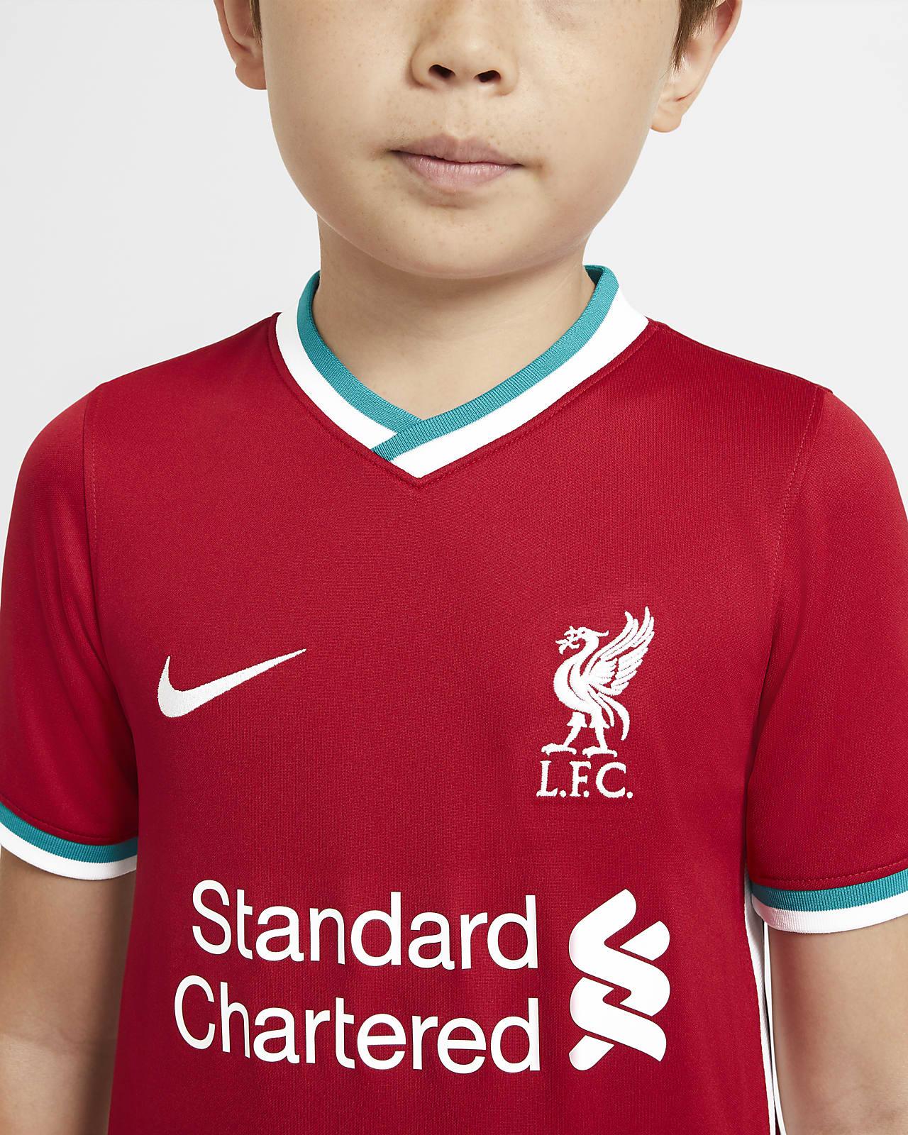 Primera equipación Stadium Liverpool FC 202021 Camiseta de fútbol Niñoa
