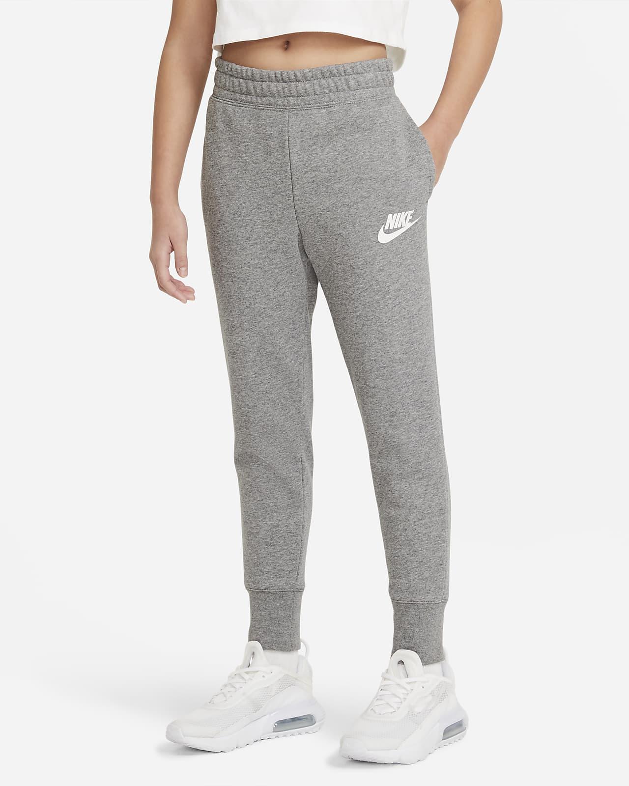 Calças em tecido moletão Nike Sportswear Club Júnior (Rapariga)