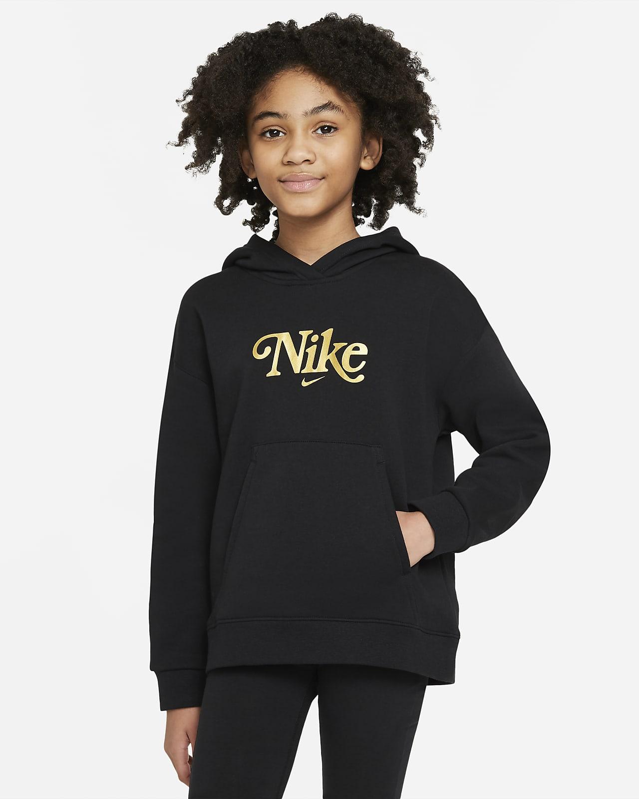 Sudadera con capucha para niñas talla grande Nike Sportswear Club Fleece