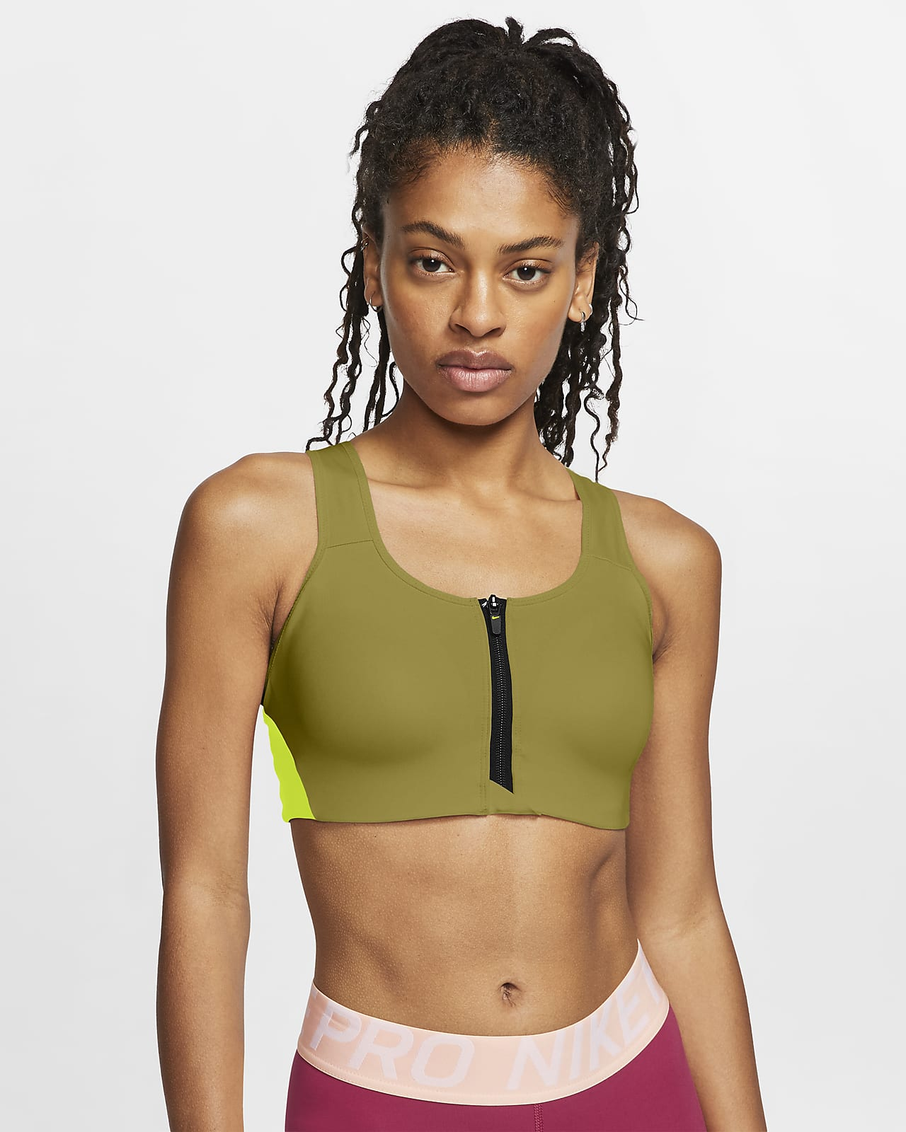 Nike Shape Women's High-Support Front-Zip Sports Bra