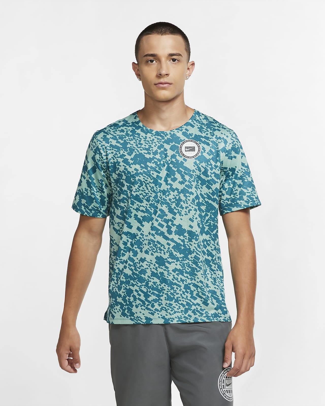 Nike Dri-FIT Miler Wild Run Hardlooptop met print voor heren