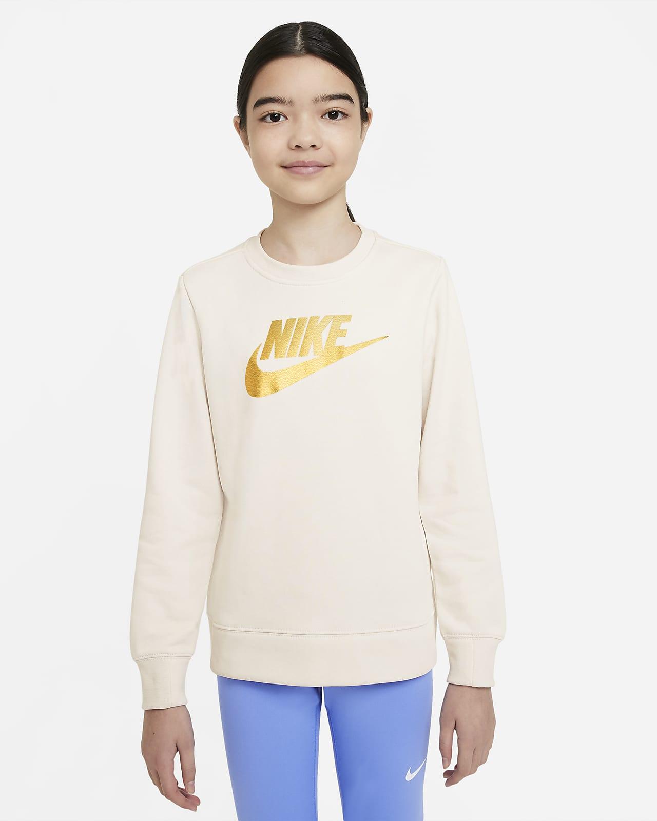 Sudadera De Cuello Redondo De French Terry Para Nina Talla Grande Nike Sportswear Nike Com