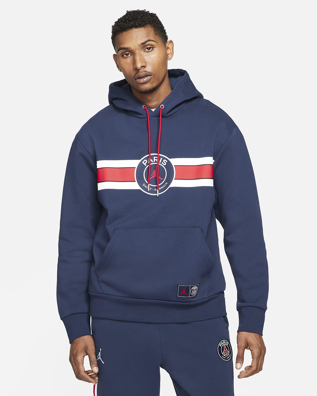 Hoodie pullover de lã cardada Paris Saint-Germain para homem