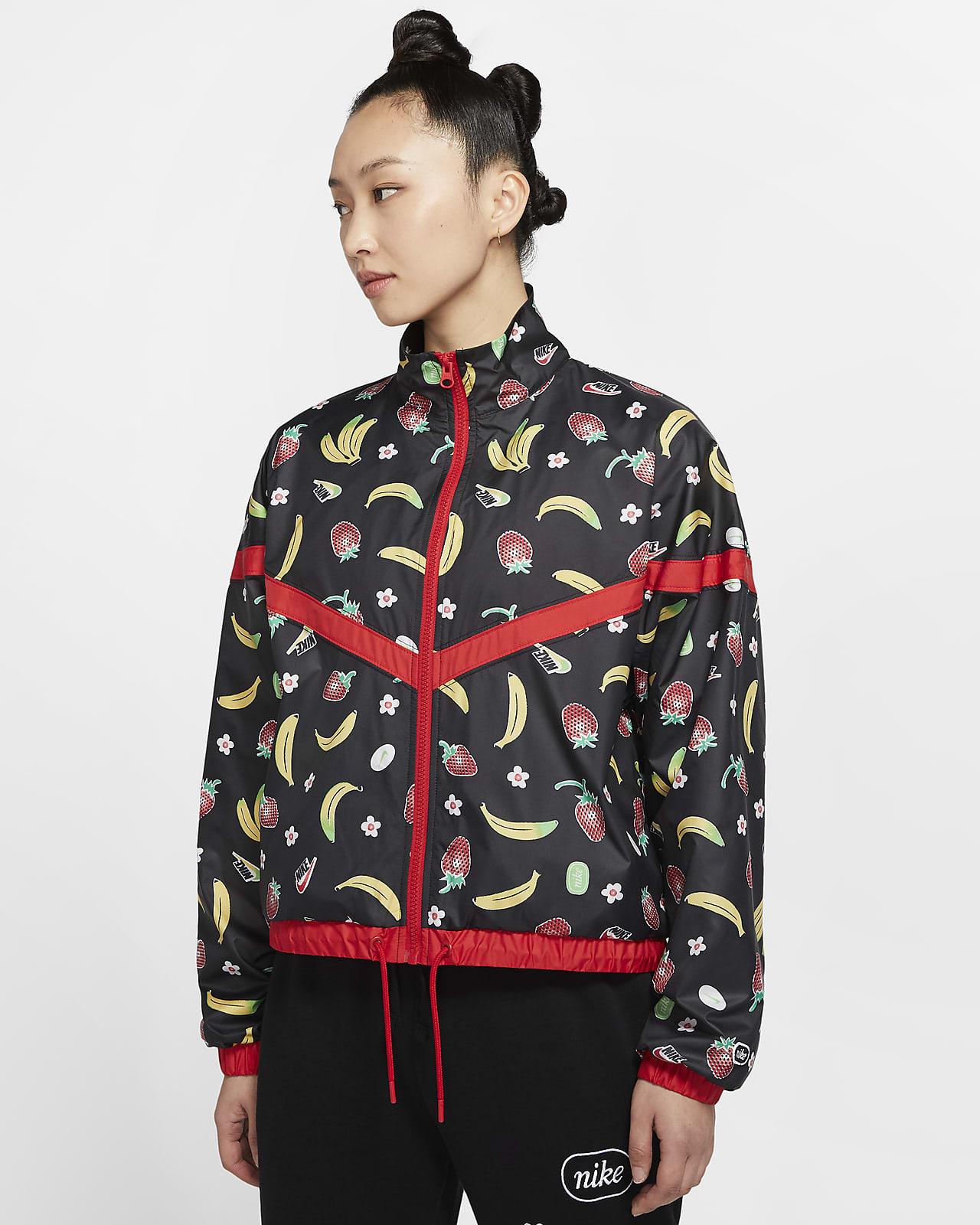 เสื้อแจ็คเก็ตผู้หญิงแบบทอพิมพ์ลาย Nike Sportswear