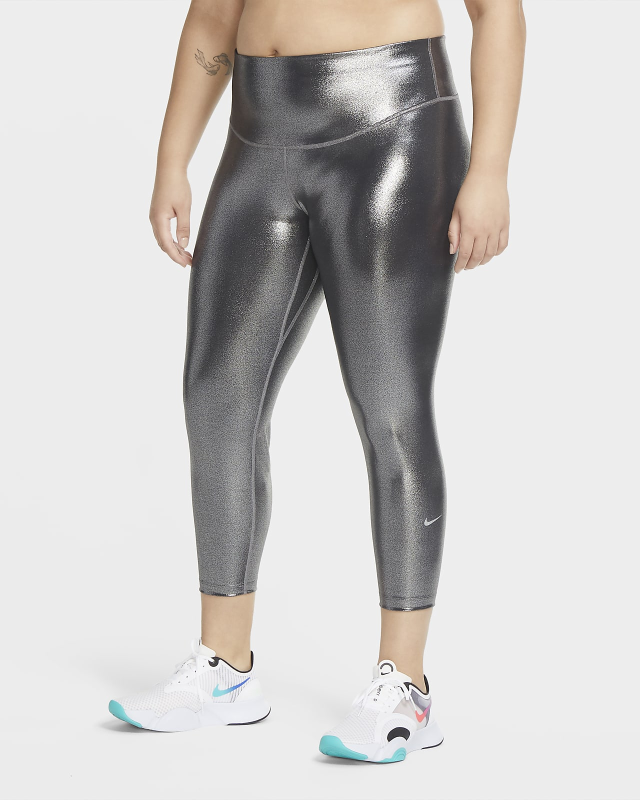 Leggings a 7/8 Nike One Icon Clash (Plus size) - Donna