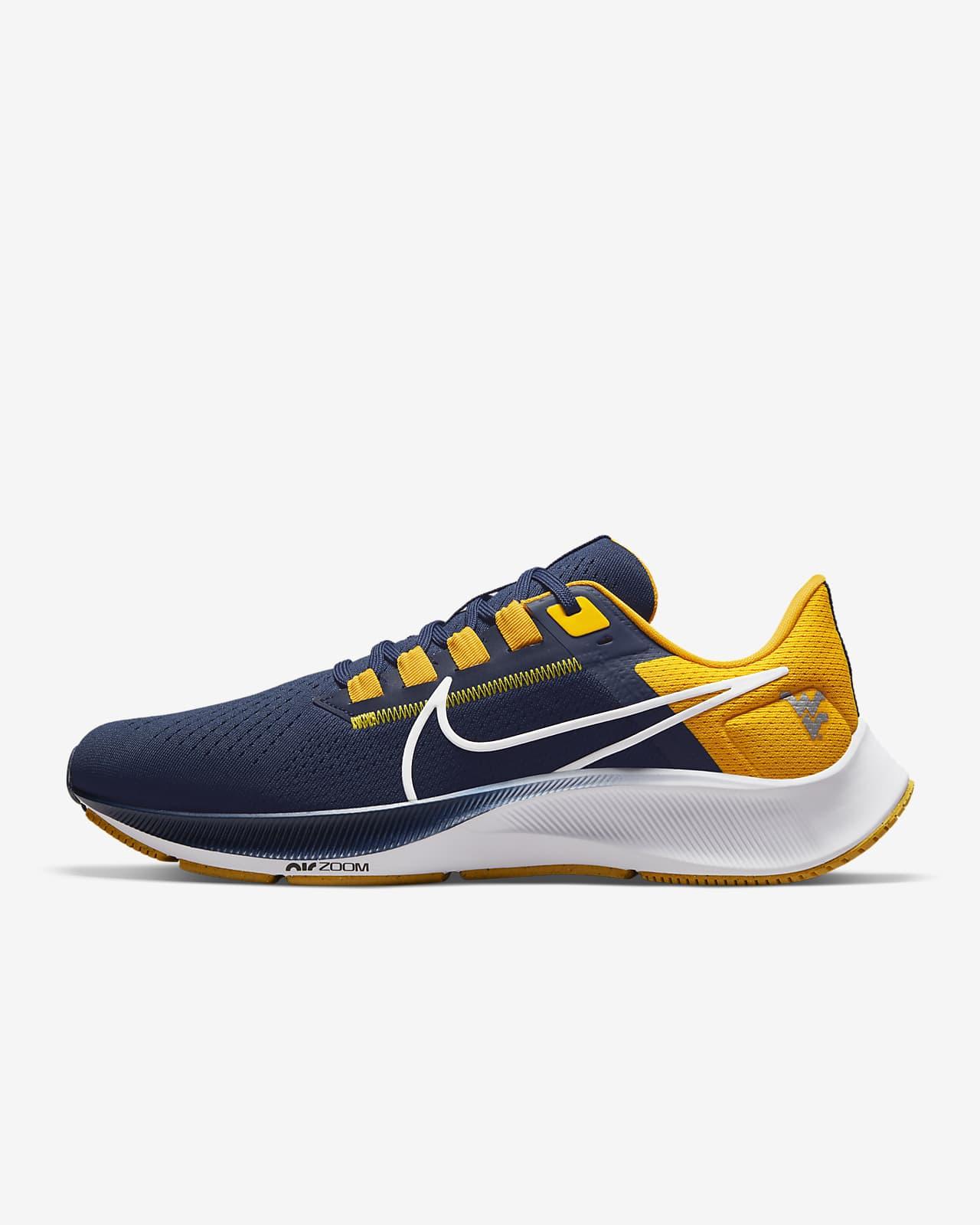 Nike College Air Zoom Pegasus 38 (West Virginia) Running Shoe