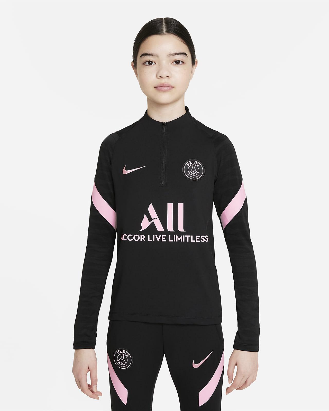 Maglia da calcio per allenamento Nike Dri-FIT Paris Saint-Germain Strike per ragazzi - Away