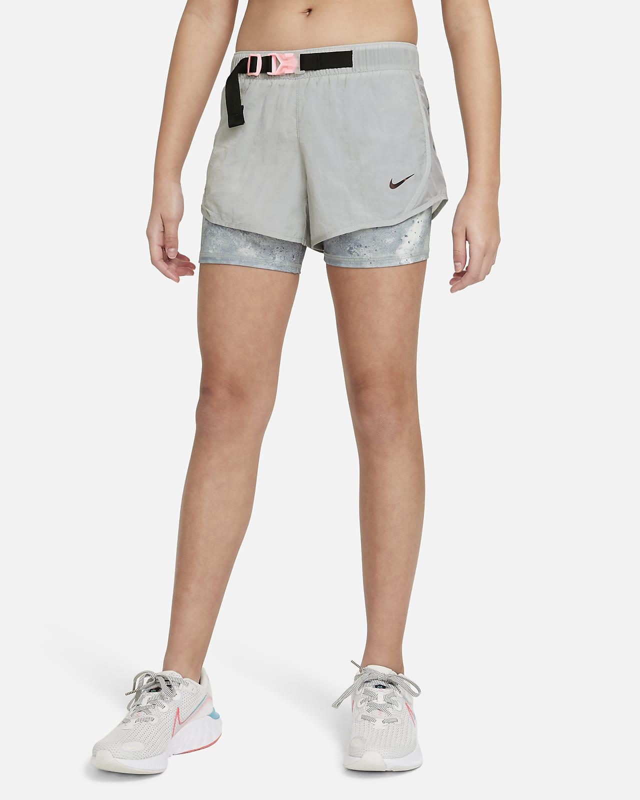 กางเกงวิ่งขาสั้นเด็กโตมัดย้อม Nike Tempo (หญิง)