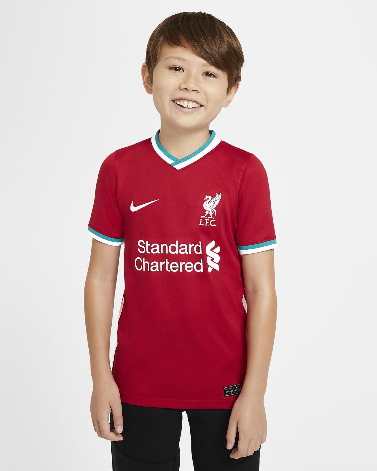 2020/21 赛季利物浦主场球迷版大童足球球衣