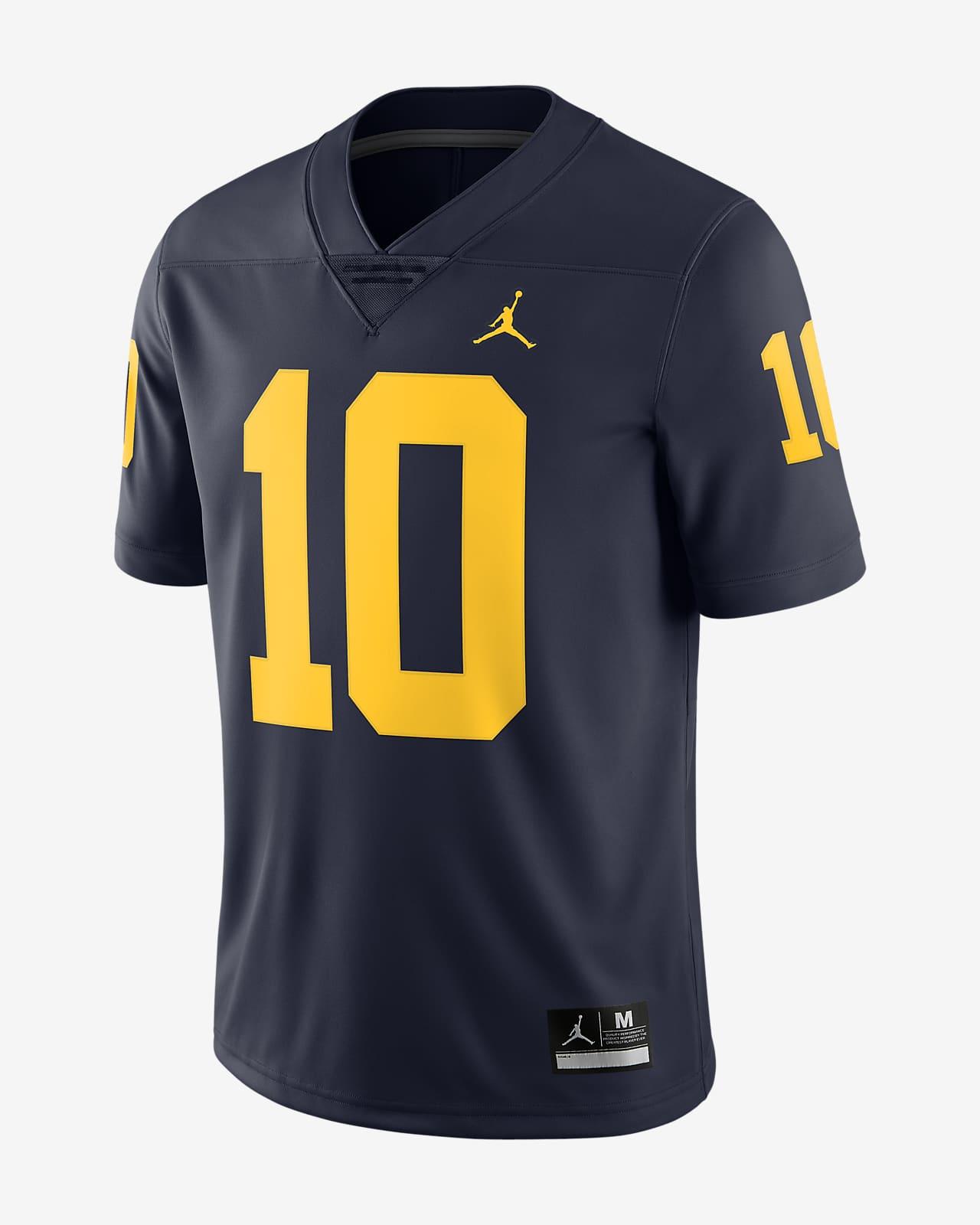 cultura Electrónico plátano  Camiseta de fútbol americano edición limitada para hombre Jordan College  (Michigan) (Tom Brady). Nike.com