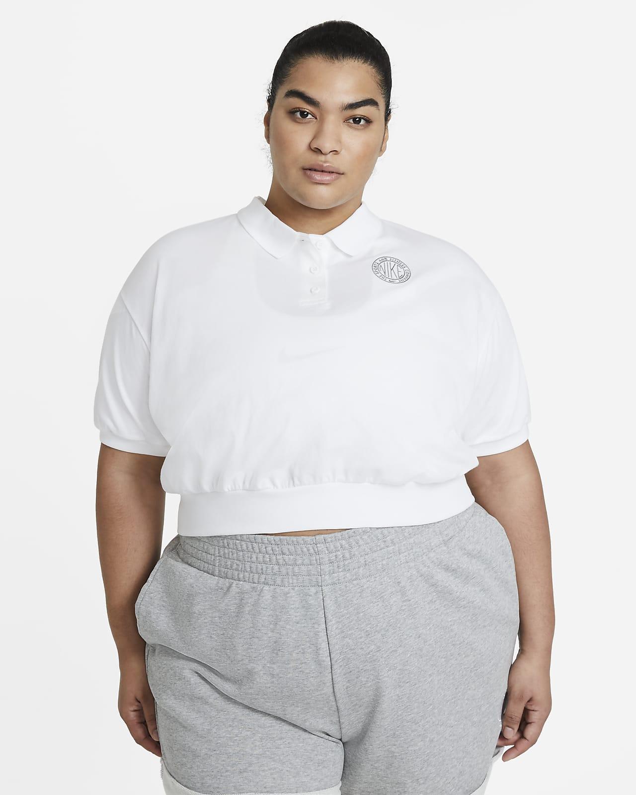 Nike Sportswear Femme Kurz-Rundhalsshirt für Damen (große Größe)