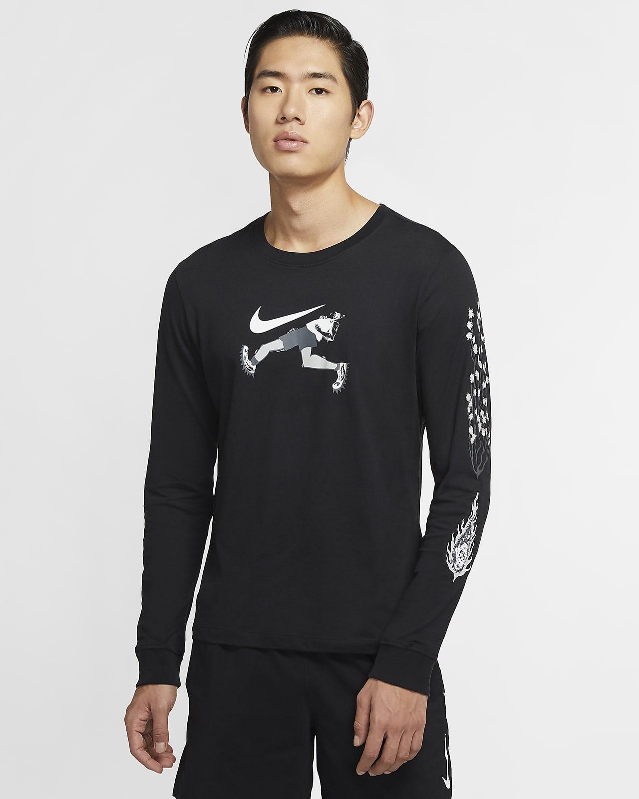 เสื้อยืดวิ่งแขนยาวผู้ชาย Nike Dri-FIT Wild Run