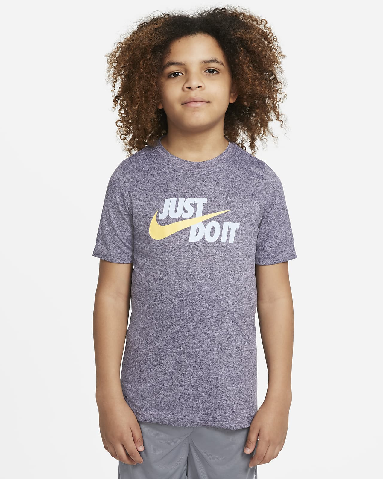 Playera de entrenamiento para niños talla grande Nike Dri-FIT