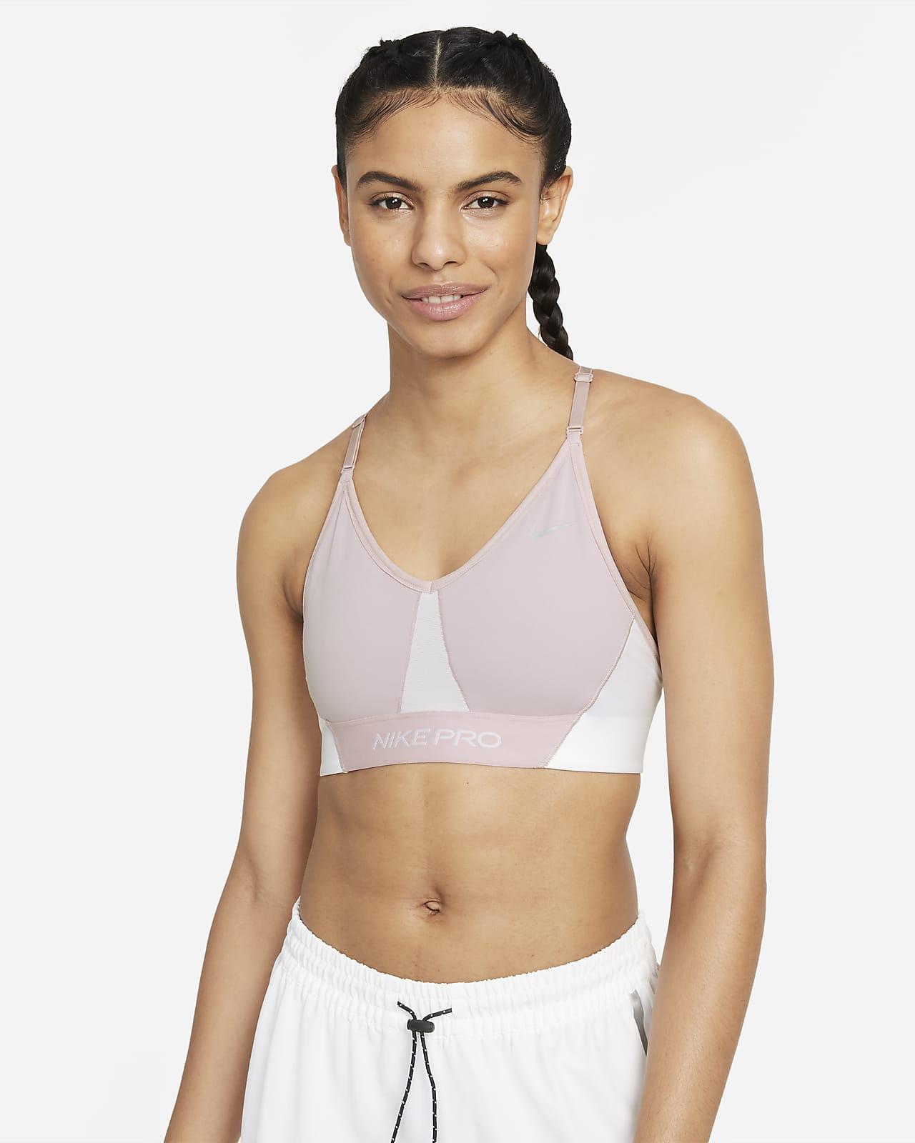 Nike Pro Dri-FIT Indy Women's Light-Support Padded Colour-Block Sports Bra