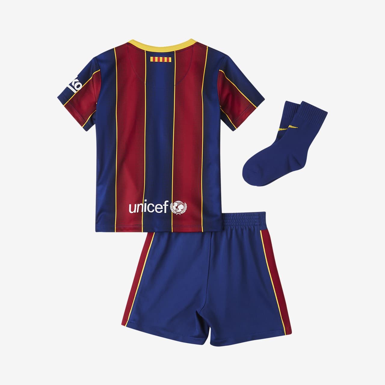 F C Barcelona 2020 21 Home Baby And Toddler Football Kit Nike Lu