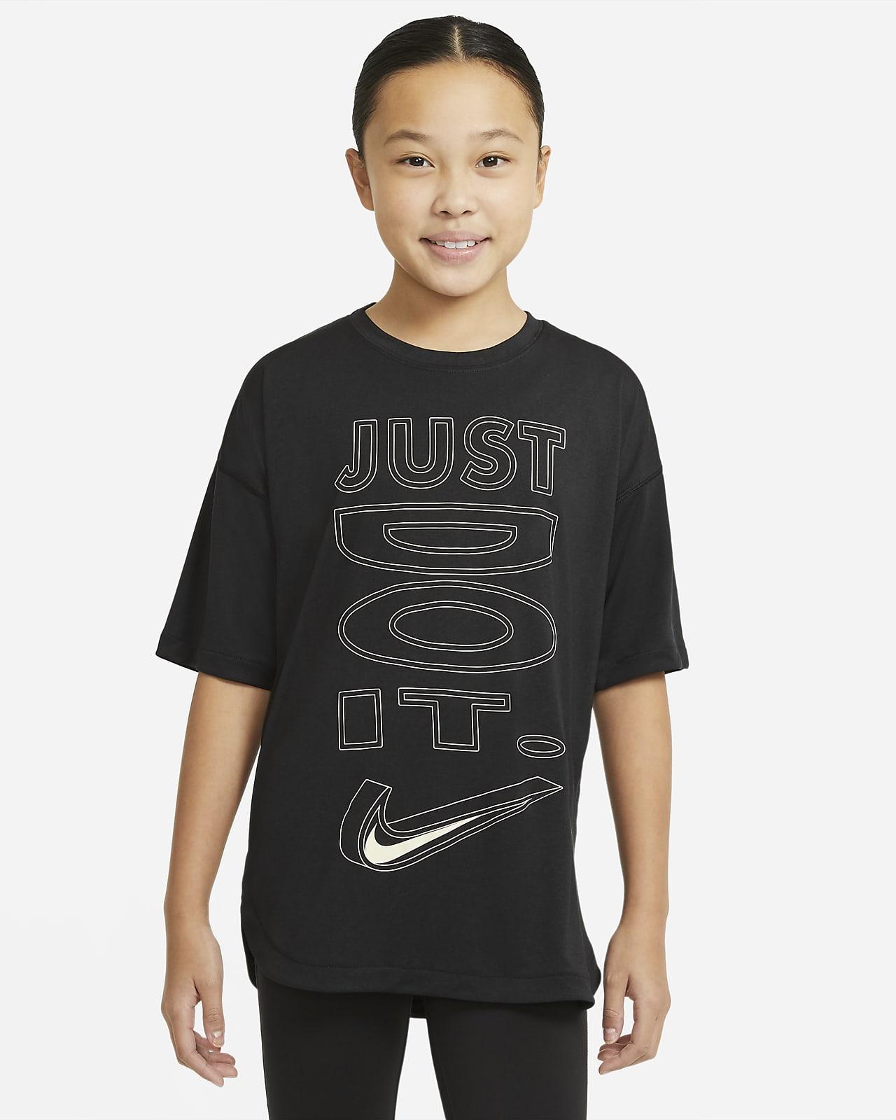 Nike Dri-FIT Big Kids' (Girls') Short-Sleeve Training Top