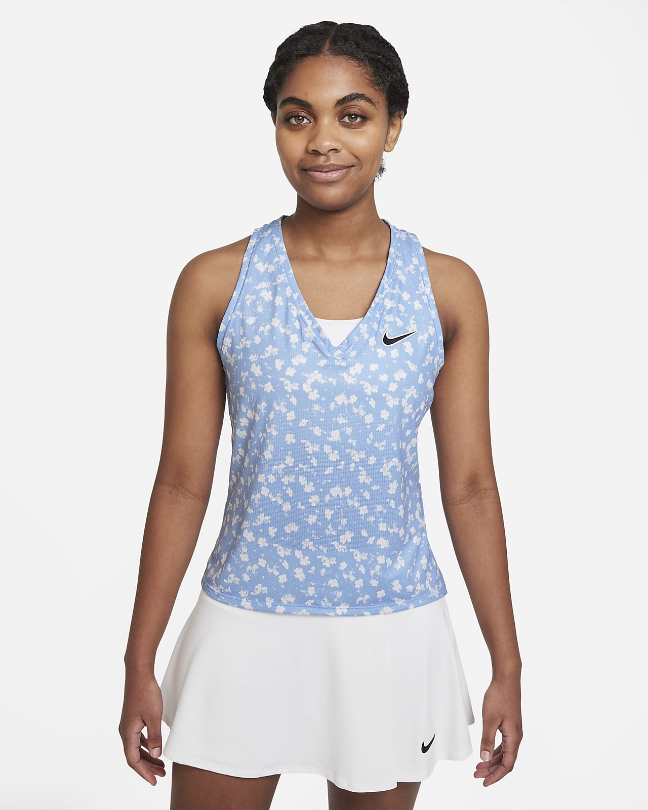 Camiseta de tirantes de tenis estampada para mujer NikeCourt Dri-FIT Victory