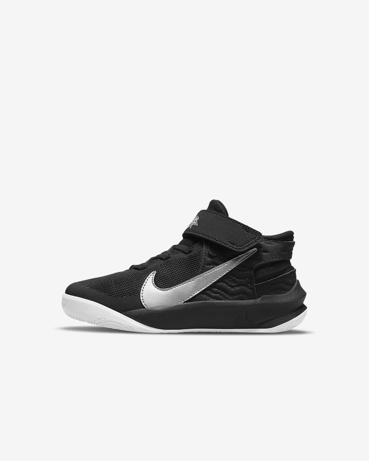 Nike Team Hustle D 10 FlyEase Little Kids' Shoes