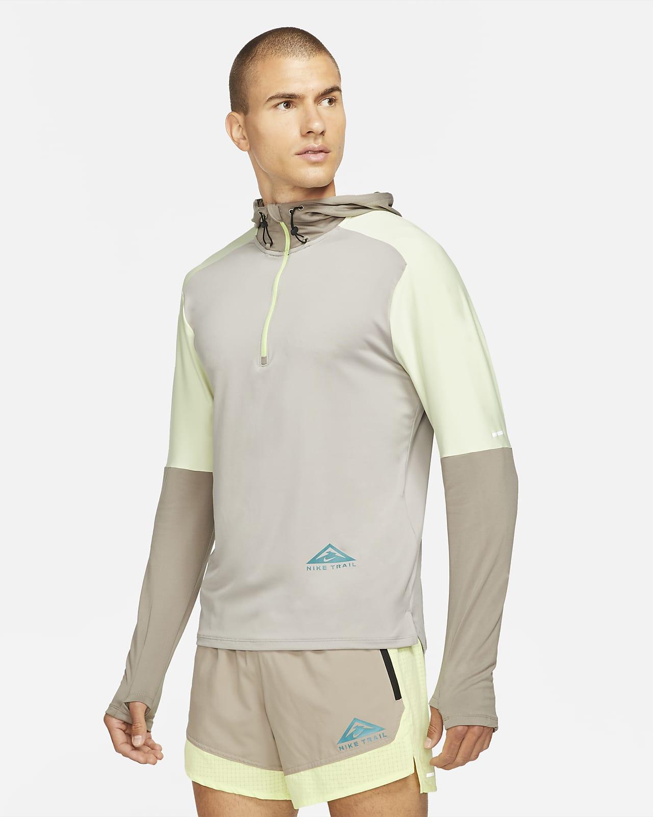 Мужская футболка для трейлраннинга с молнией на половину длины Nike Dri-FIT Trail Element
