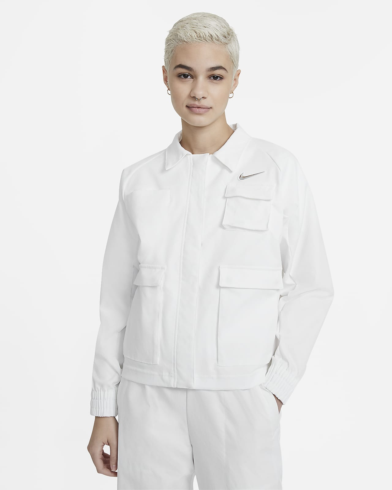 Chamarra tejida para mujer Nike Sportswear Swoosh