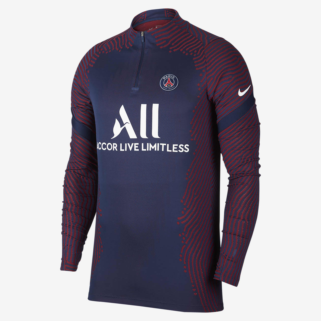 Haut de football Paris Saint-Germain VaporKnit Strike pour Homme