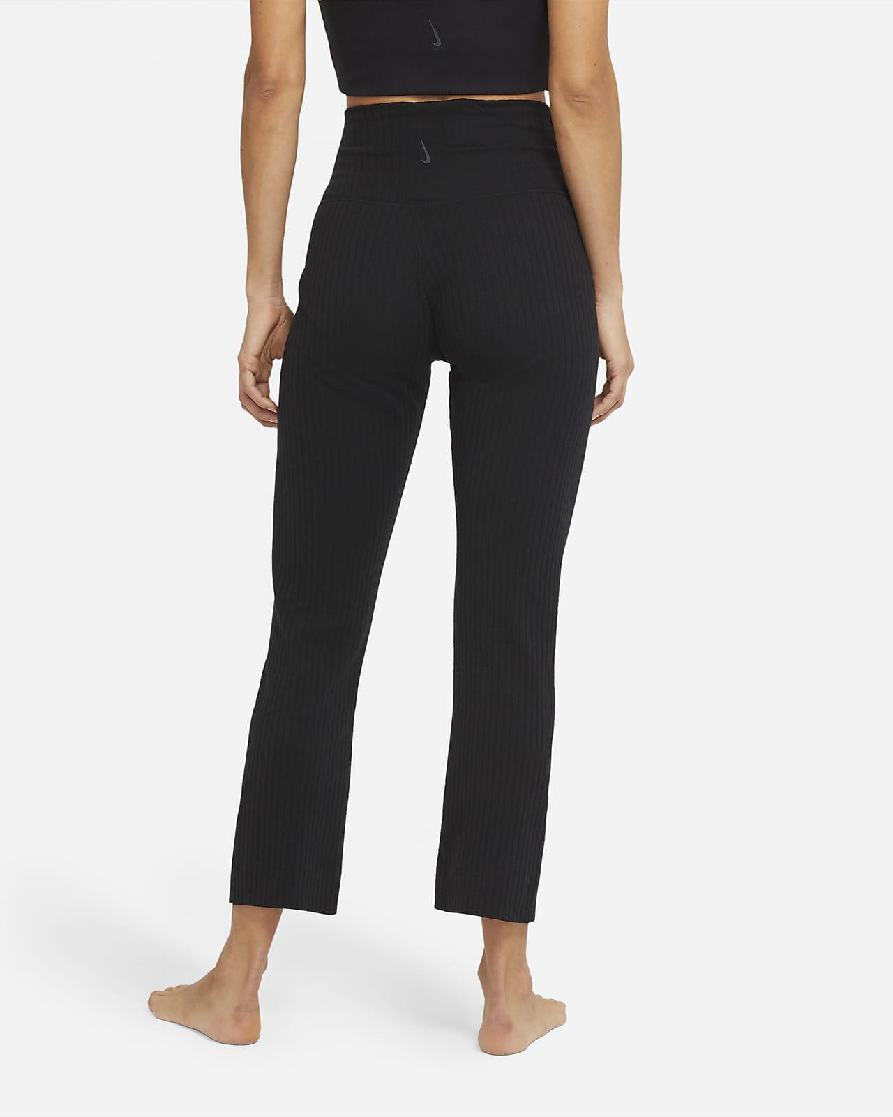 Pantalones De 7 8 De Tela Rib Para Mujer Nike Yoga Nike Com