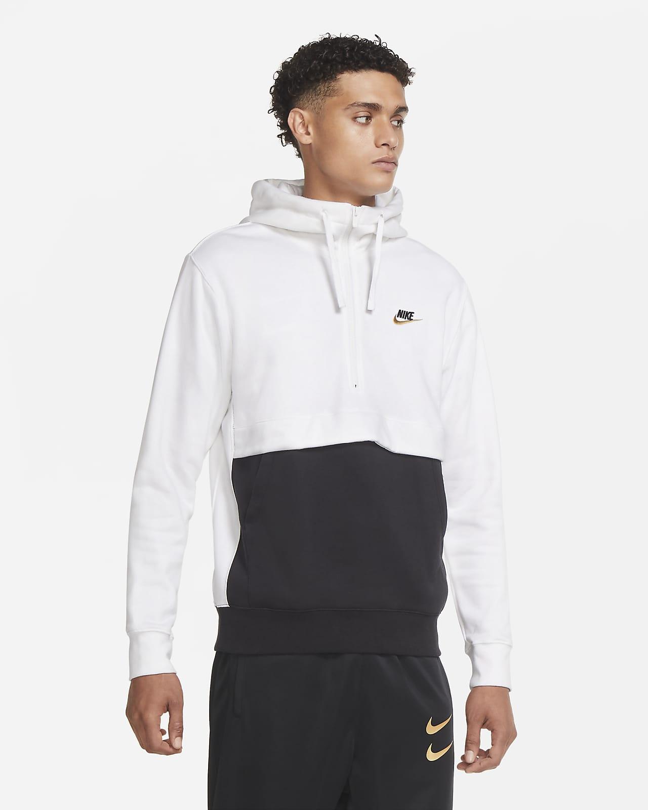 Nike Sportswear Club Fleece rövid cipzáras kapucnis férfipulóver