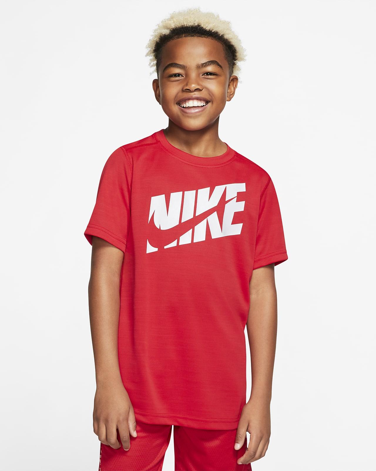 Haut de training à manches courtes Nike pour Garçon plus âgé