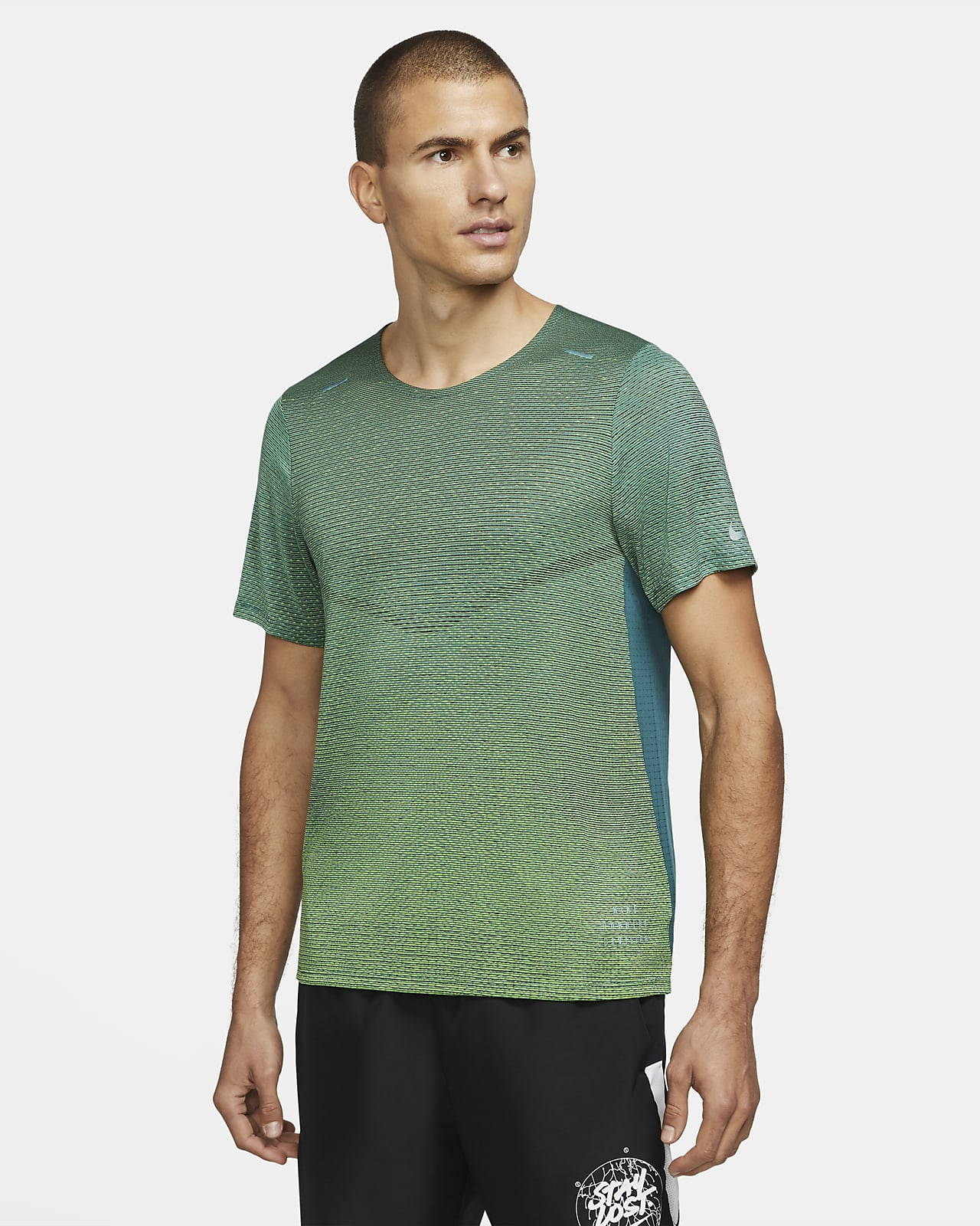 Nike Pinnacle Run Division Kurzarm-Laufoberteil für Herren