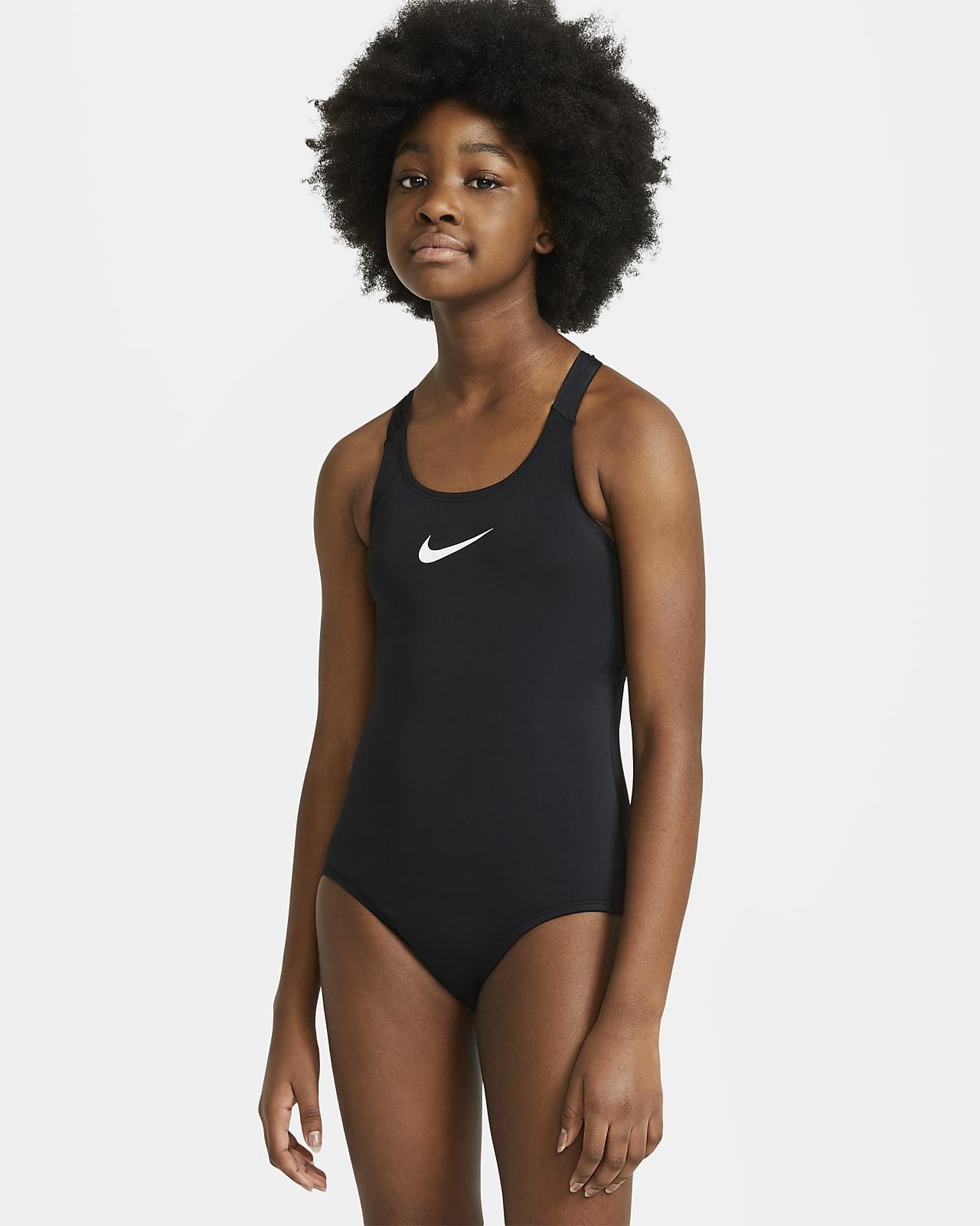 Fato de banho de peça única com design racerback Nike Essential Júnior (Rapariga)