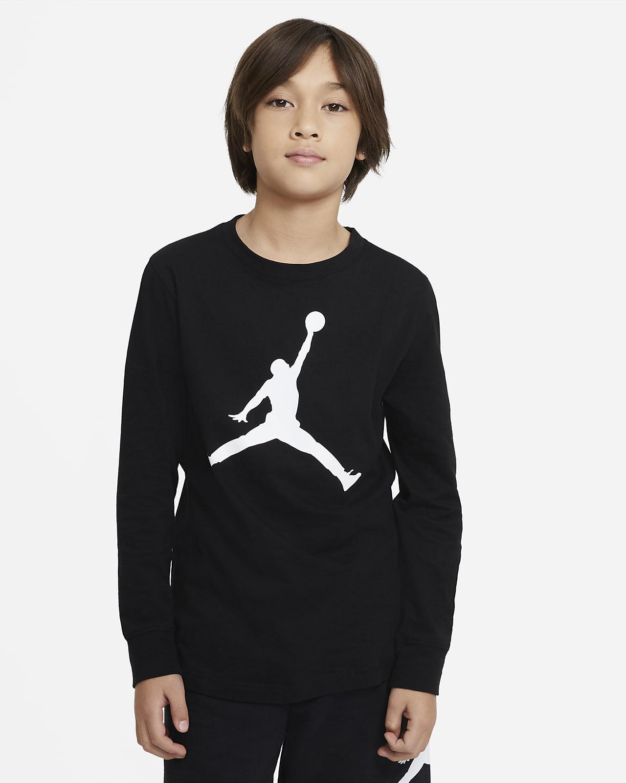 Playera de manga larga para niños talla grande Jordan