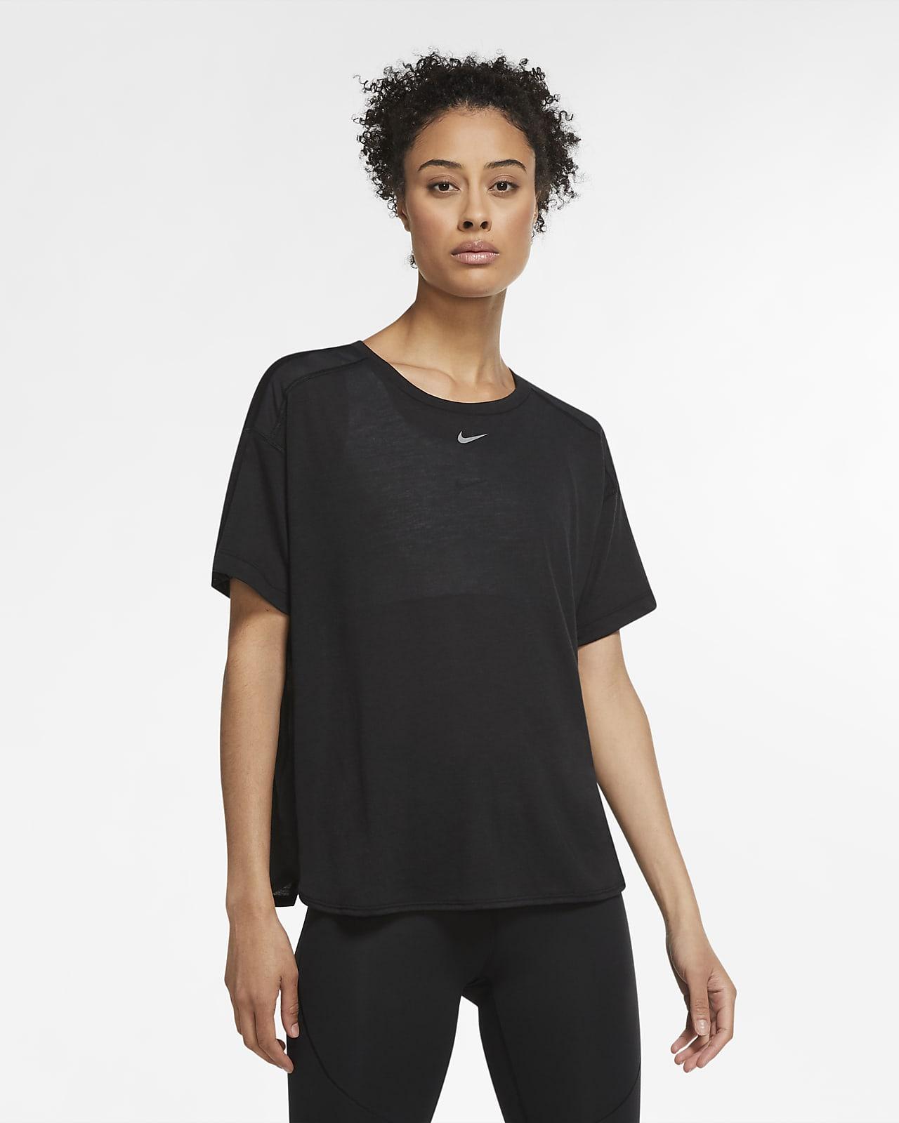 Damska koszulka z krótkim rękawem Nike Pro AeroAdapt