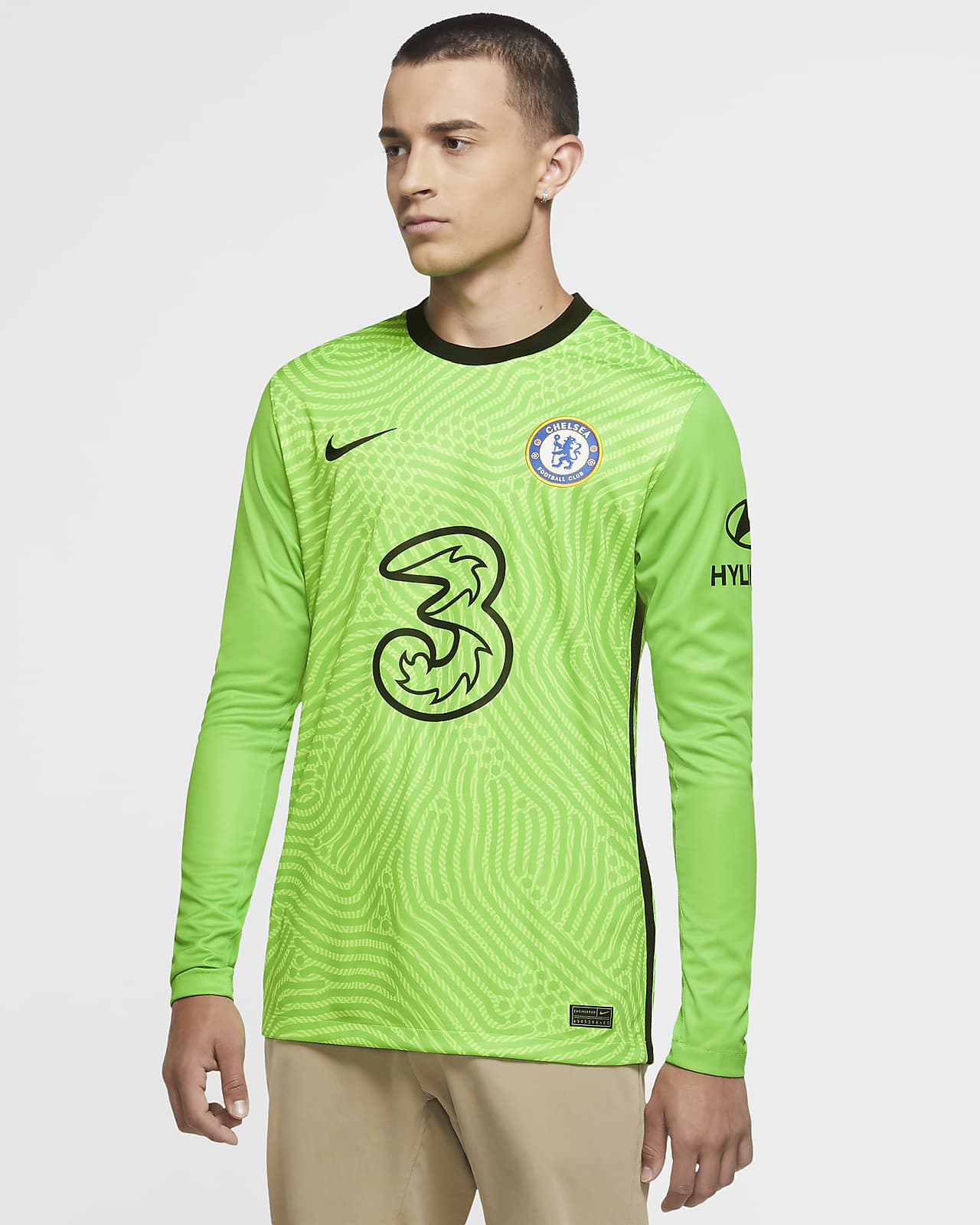 Camisola de futebol Stadium Goalkeeper Chelsea FC 2020/21 para homem