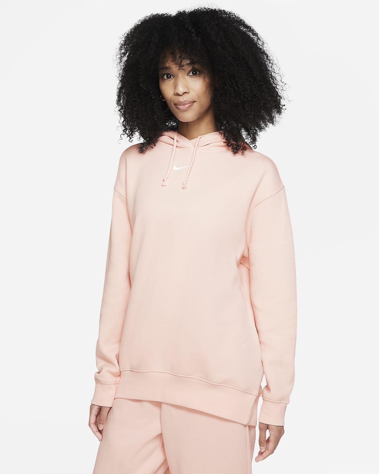 Felpa oversize in fleece con cappuccio Nike Sportswear Essential Collection - Donna