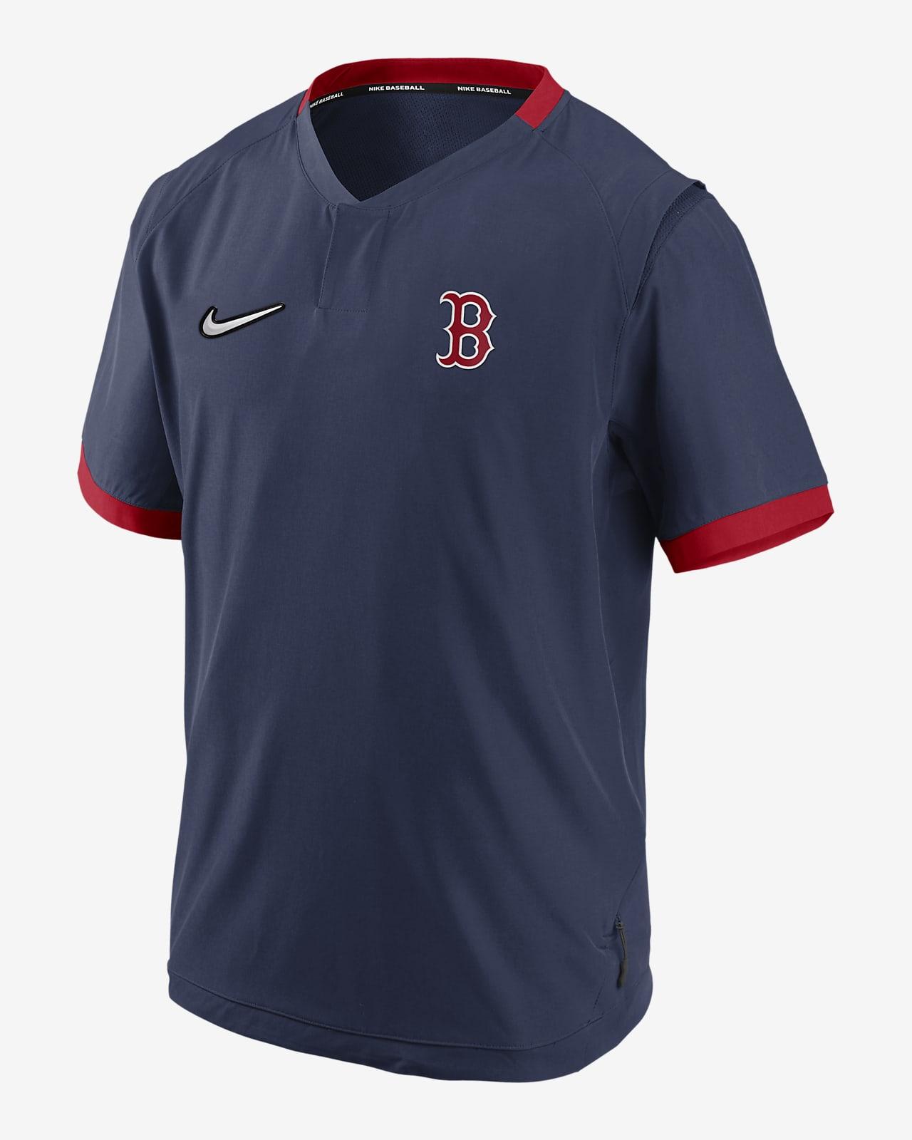 Chamarra de manga corta para hombre Nike Hot (MLB Boston Red Sox)