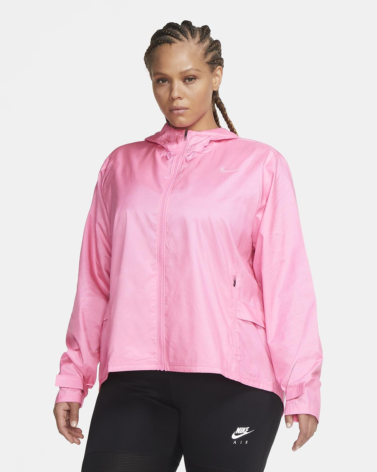 Chamarra de running para mujer talla grande Nike Essential