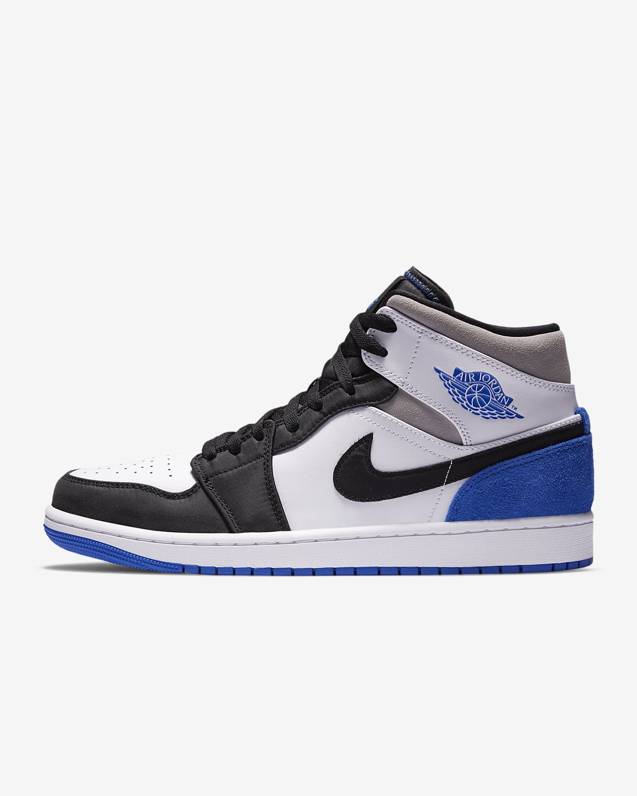 air jordan 1 mid azules y blancas