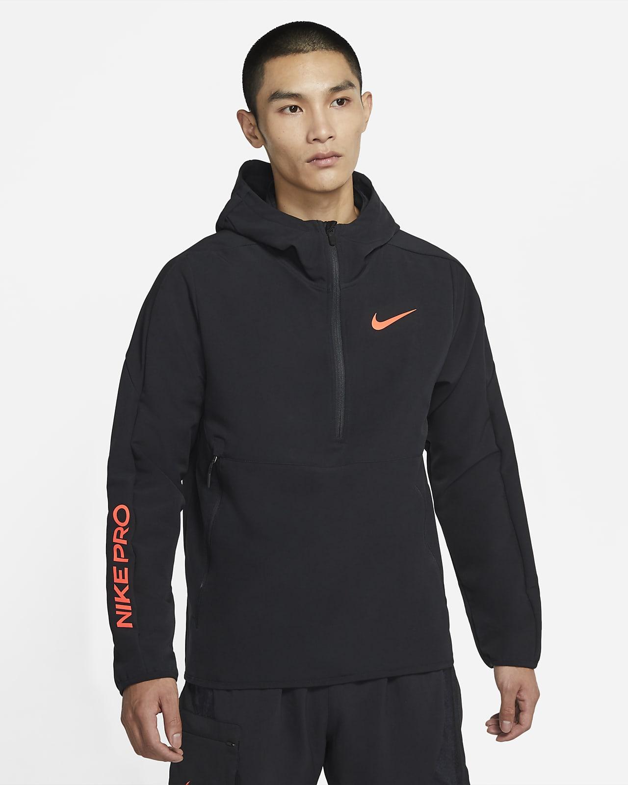 Nike Pro 男款 1/4 拉鍊式連帽上衣