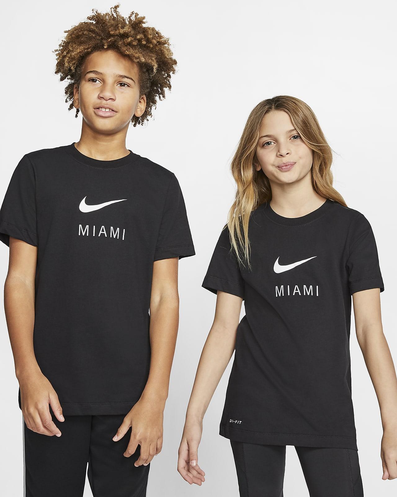 Playera para niños talla grande Nike Dri-FIT Miami