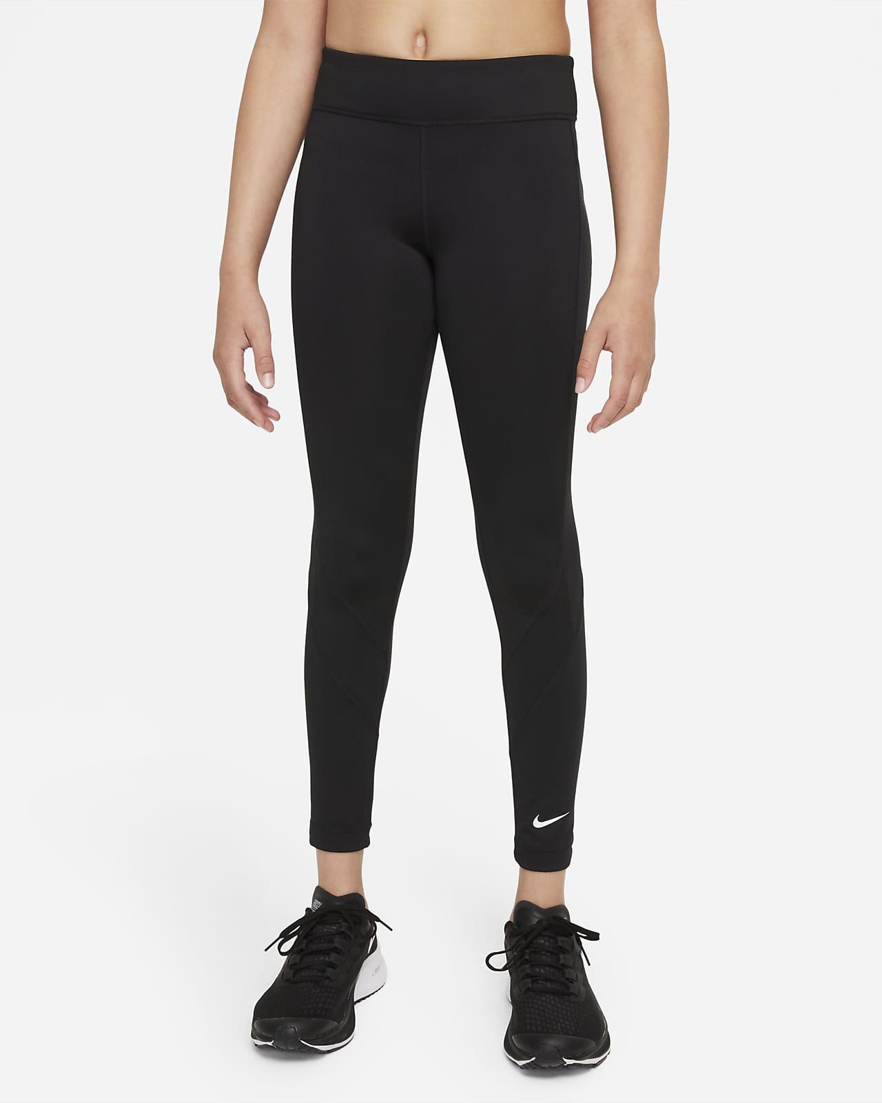 Nike Dri-FIT One 大童 (女童) 內搭褲