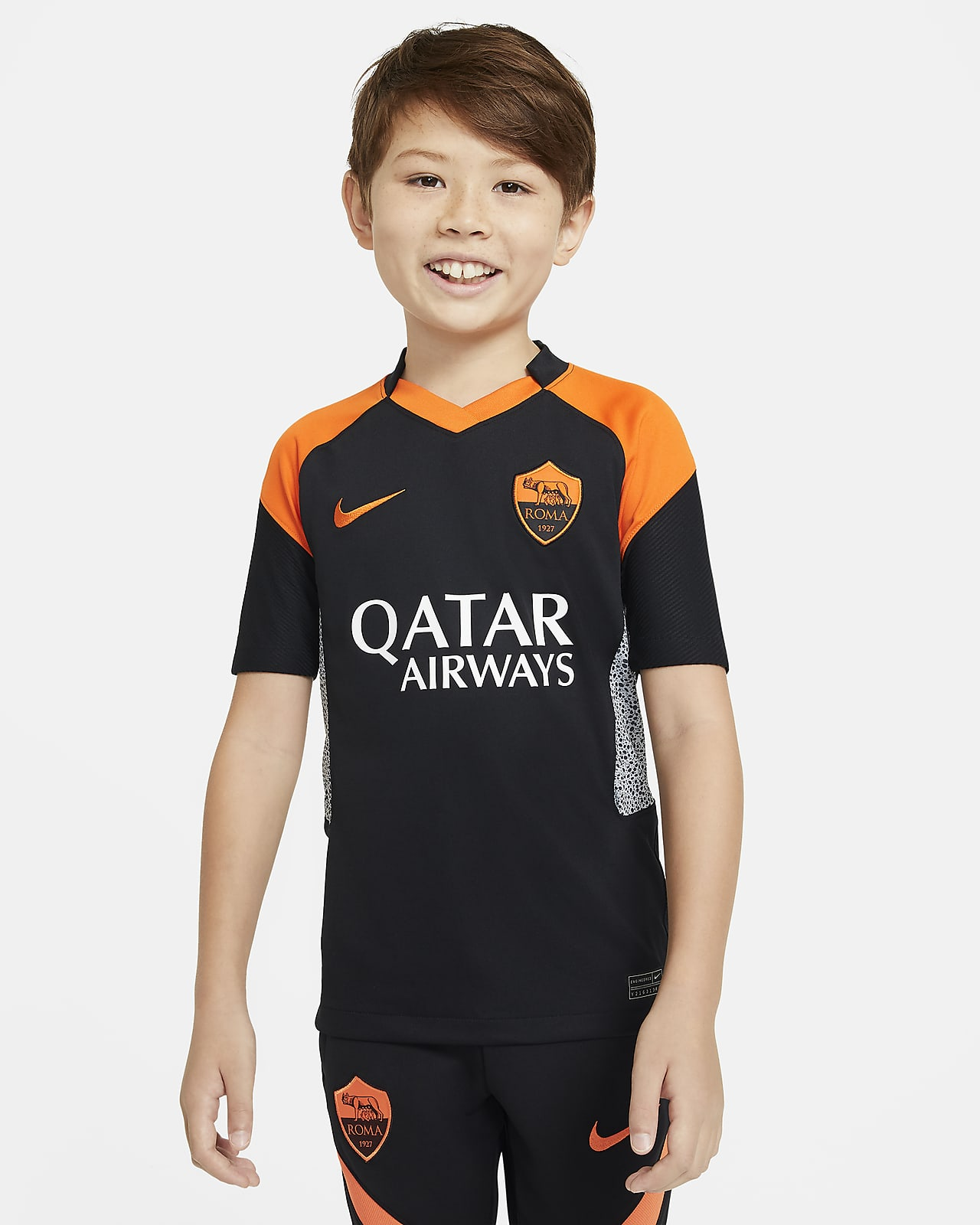AS Roma 2020/21 Stadium Third Older Kids' Football Shirt