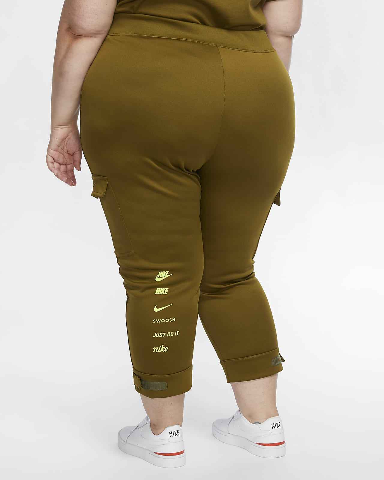 Pantalones De Politejido Para Mujer Talla Grande Nike Sportswear Swoosh Nike Com