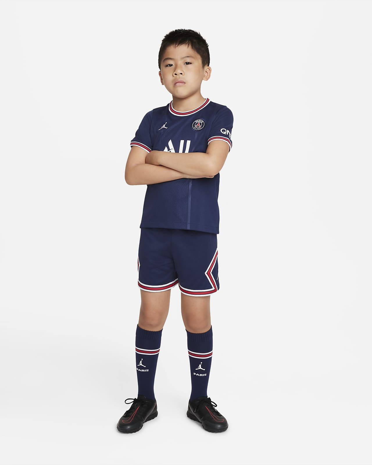 Paris Saint-Germain 2021/22 (hjemmedrakt) fotballsett til små barn